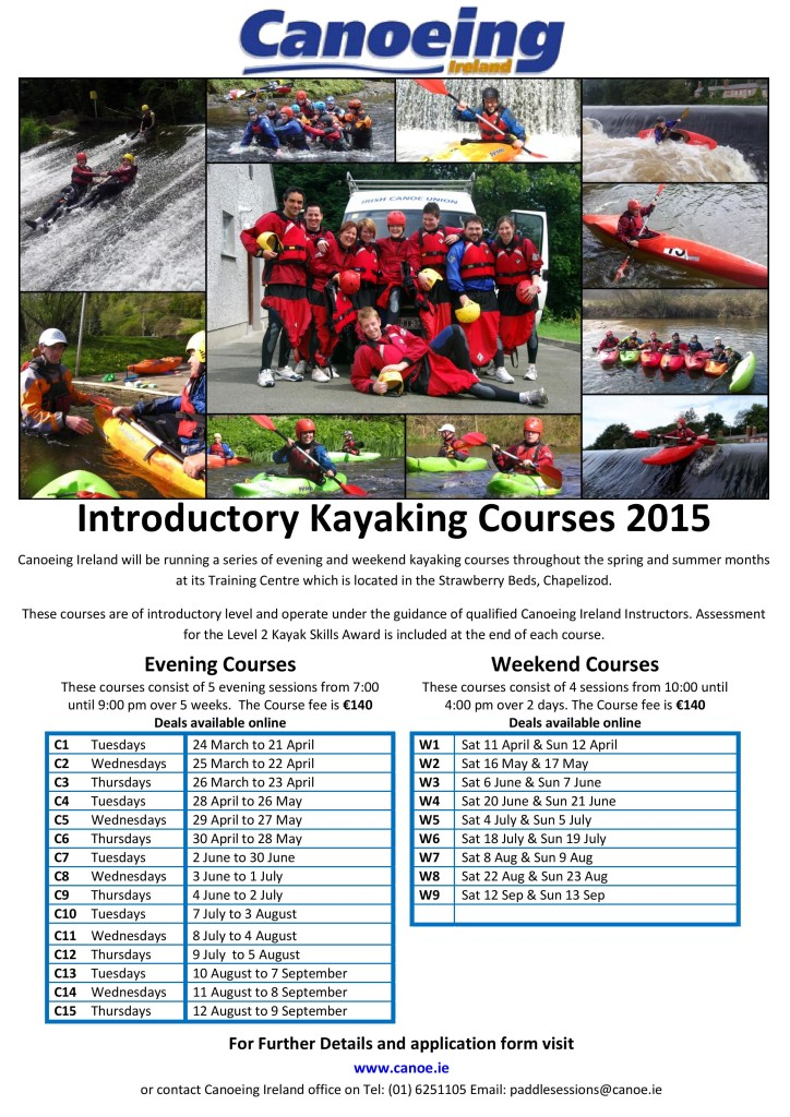 Introductory Kayaking Courses 2015