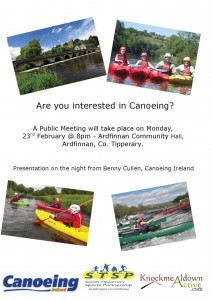 Canoeing Info Meeting - Poster