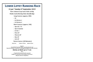 Lower Liffey ranking race